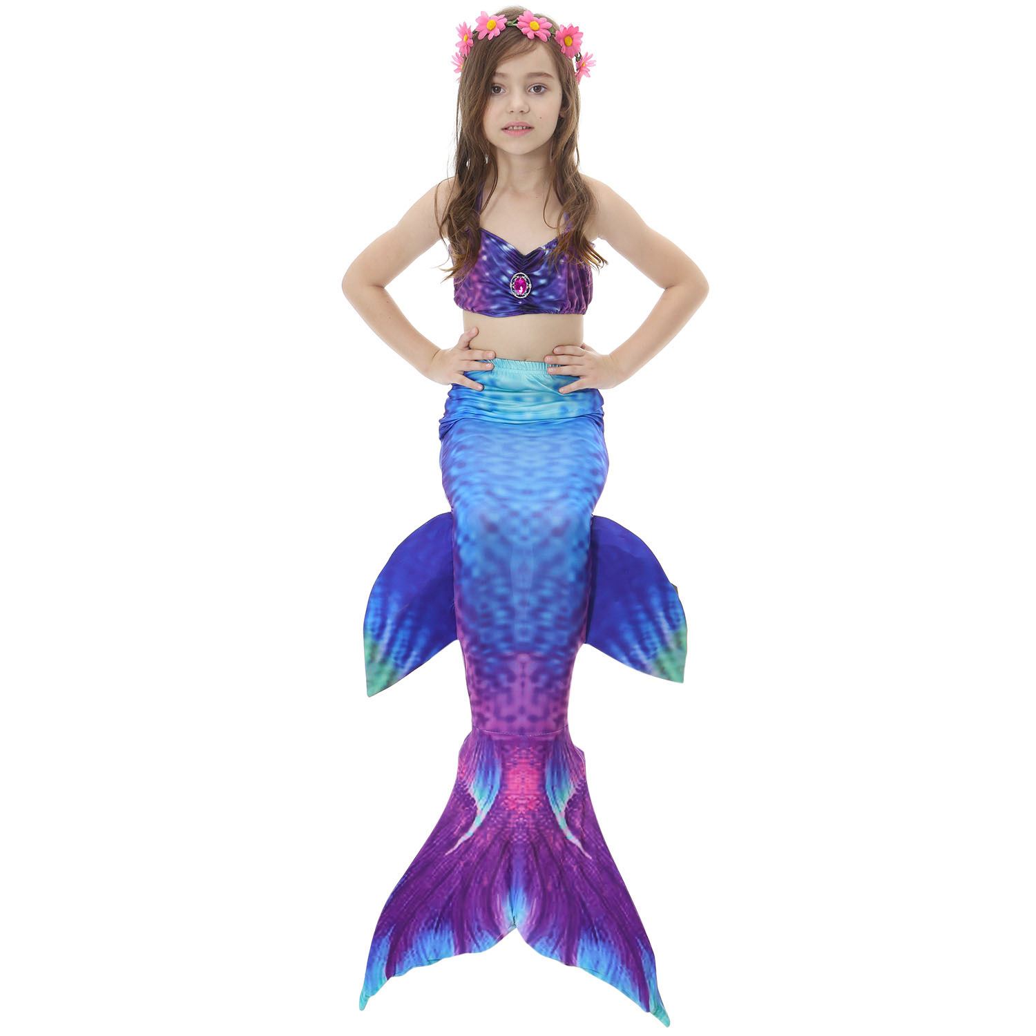 Sexy Mermaid Swimsuit Cute Girls Birthday Skirt Chest Pad Fishtail Summer Big Boy Insulated 2018 Parent And Child
