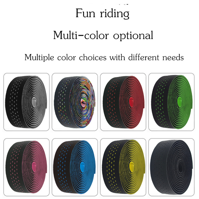 Free shipping Road Bicycle Handlebar Tape Belt Cycling Handle Bar Grip Wrap Anti-slip Anti-sweat Strap 2 Bar Bike Accessories 3