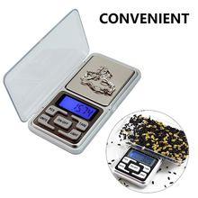 Escala digital mini escala de jóias 100/200/300/500g 0.01/0.1g alta precisão backlight bolso elétrico cozinha escalas eletrônicas