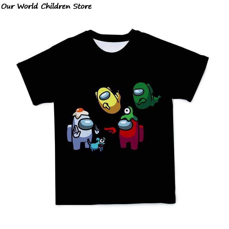 У нас футболка одежда для маленьких девочек и мальчиков среди нас Camisetas; Футболка детская футболка Enfant странные как xxx для мальчиков подрост...