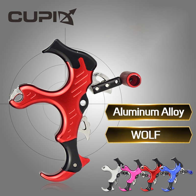 WOLF Three-finger Bow Release Aluminum Alloy Right Hand / Left Hand User Compound Bow Bow And Arrow Archery Accessories