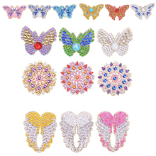 Rhinestone Embroidery Painting-Brooch Diamond Gift Full-Drill for Girlfriend 3pcs Jacket