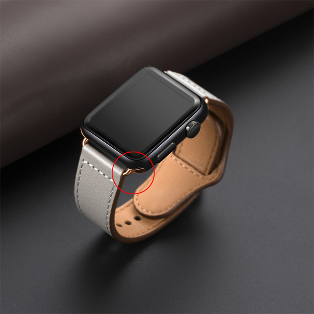 Genuine leather loop strap for apple watch band 42mm 44mm apple watch 4 5 38mm 40mm iwatch 3/2/1 correa replacement bracelet 3