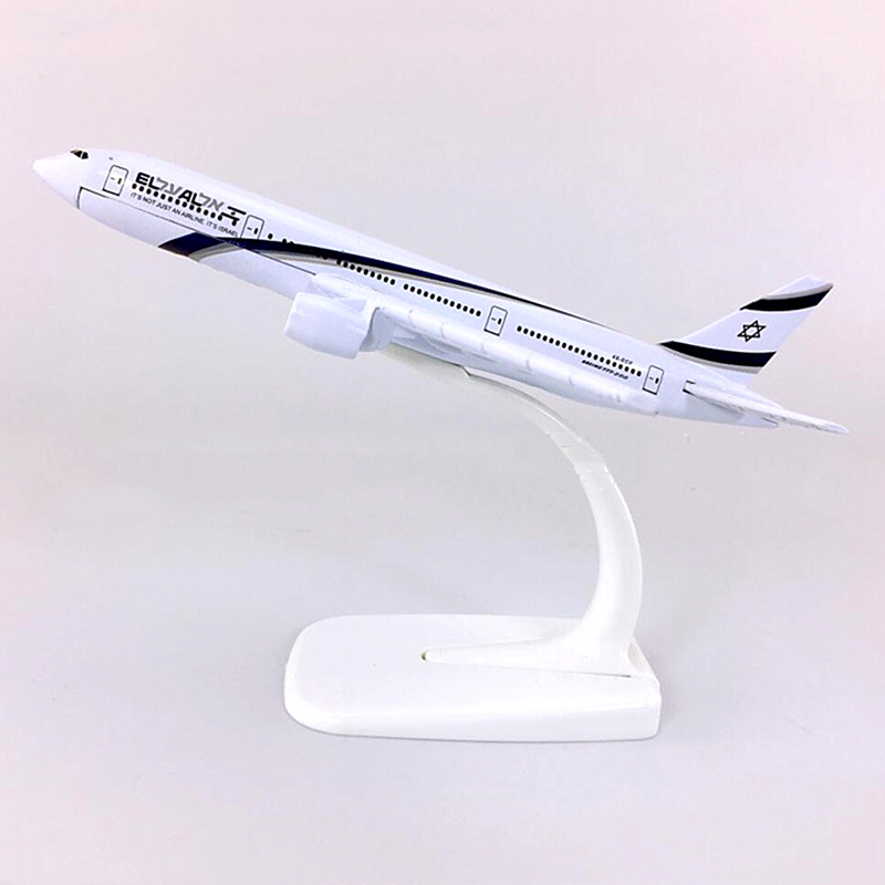 16CM 1:400 Scale ELAL Israel Airlines Airways <font><b>Boeing</b></font> <font><b>777</b></font> B777 Aircraft Metal Diecast Plane Model Collectible display image