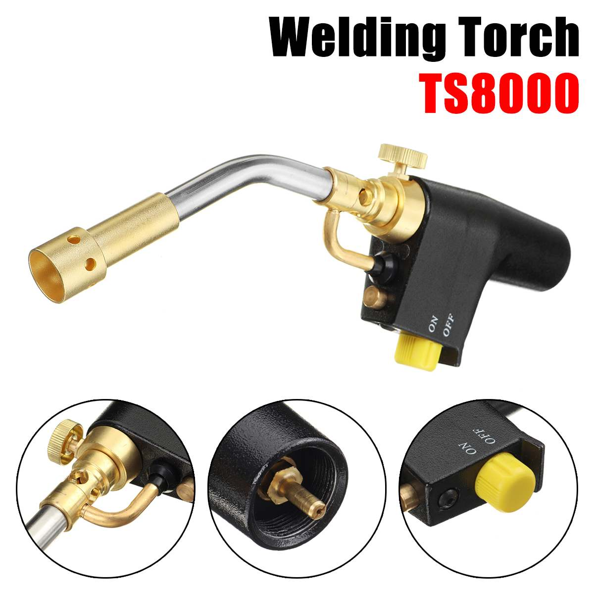 TS8500 Bernzomatic Style Blow Torch Kit Brazing Soldering Mapp Gas Map TS8500 Stainless Steel Welding Torch Camping Welding BBQ