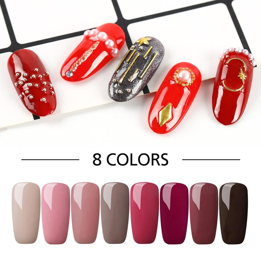 COSCELIA Manicure Set Nail Kit Soak Off Gel Polish UV LED For Manicure Gel Nail Polish 8ML Nail Art Gel Varnish