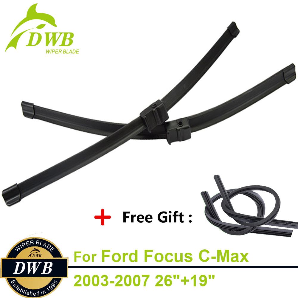 """98-04 Ford Focus Mk1 Front Wiper Blades Windscreen 22/""""19/"""" Hook Type Wipers"""