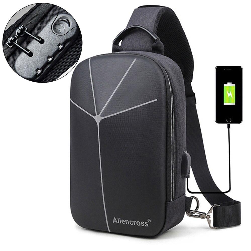 2019 New Multifunction Crossbody Bag For Men Anti-theft Shoulder Messenger Bags Male Waterproof Short Trip Chest Bag Pack