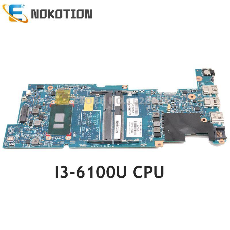 NOKOTION 827822-601 827822-001 827822-501 For HP Pavilion X360 13-S Laptop Motherboard I3-6100U CPU 448.05H02.0021 448.05H03.001