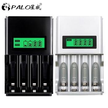 цена на AA / AAA rechargeable battery charger fast LCD smart charger 2 colors for AA / AAA Ni-MH / Ni -dc rechargeable battery