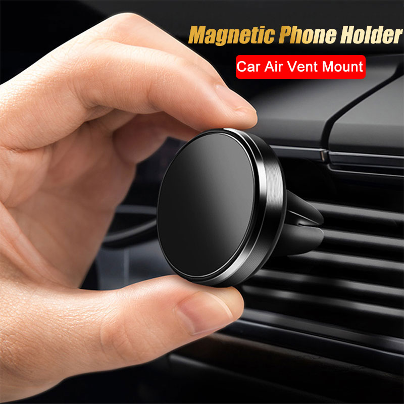 Air Vent Mount Magnetic Car Phone Holder For IPhone 7 X 11 XR Samsung S10 Plus Huawei Metal Magnet Car Mobile Phone Stand Holder