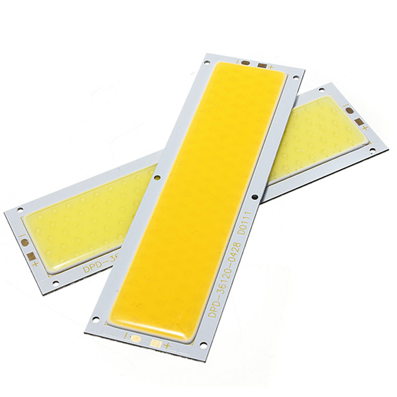 Smuxi DIY LED Panel Light 120x36MM 1000LM Ultra Bright Warm Natural Cold White DC 12V 10W COB Board LED Lamp