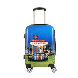Горячая Распродажа Новый стиль путешествия кормящих телескопическая ручка багажа Красочные Модные Печатные универсальные колеса