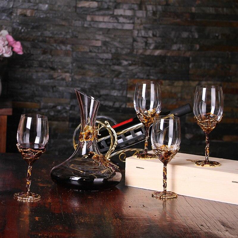 ¡Oferta! juego de Bar de cristal de estilo chino, herramientas de Bar, tapón de copa de vino tinto, separador de vino, juego de vino para regalo, vino exótico