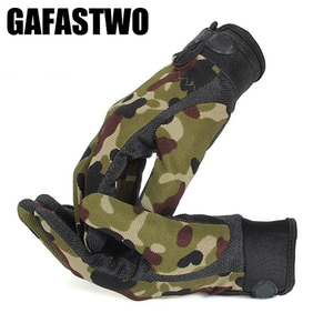 Mens Tactical Gloves Lightweight Breathable Riding Gloves Non-slip Wearable Full Finger and Half Finger Gloves
