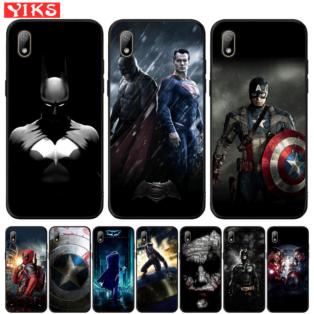 Cover For <font><b>Huawei</b></font> Y5 Lite <font><b>Y6</b></font> Prime 2018 <font><b>2019</b></font> Y7 Y9 Prime <font><b>2019</b></font> Marvel Captain America Batman Case For Honor 7A Pro 8S P Smart Z image