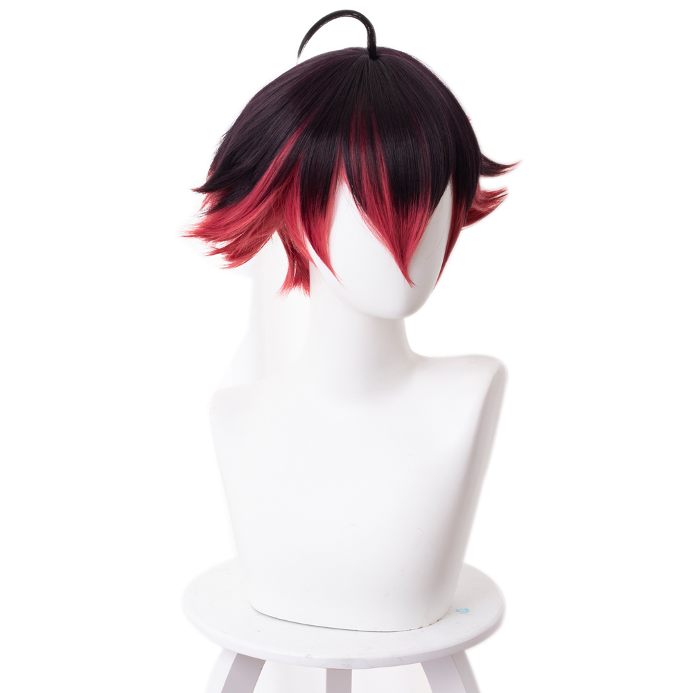 Image 2 - Anime PROMARE Cosplay Gueira Wig 33cm Short Heat Resistant Synthetic Hair Halloween Cosplay WigsAnime Costumes   -
