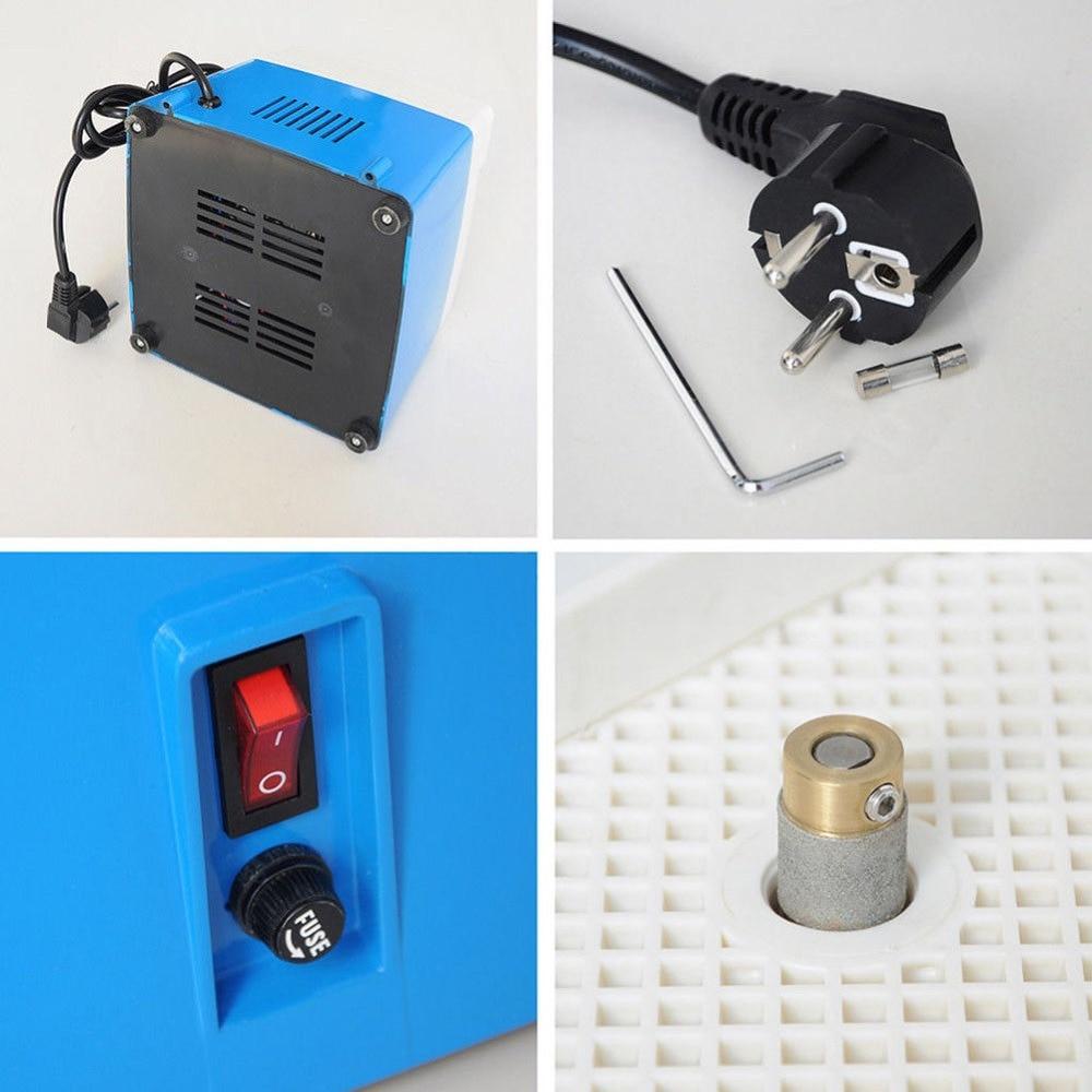 AC 220V 0.1A Tragbare Mini Automatische Stained Grinder Diamant Glas Kunst Schleifen Tool Home DIY Blau Kleine Schleifen Maschine
