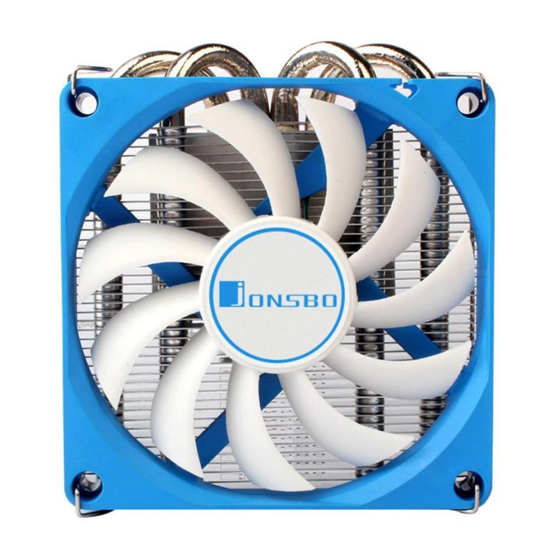 Jonsbo HP-400 CPU Cooling Fan Ultra-Thin CPU Cooler 4 Heat Pipes Radiator For HTPC Case All-In-One Computer