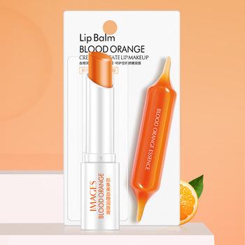 Obrazy wilgoć balsam do ust krew pomarańczowa naturalna szminka długotrwała odżywcza ochrona pielęgnacja ust makijaż baza TSLM1 tanie i dobre opinie Krem nawilżający odżywczy CHINA Pełny rozmiar GZZZ05411540759 Lip Balm Blood Orange