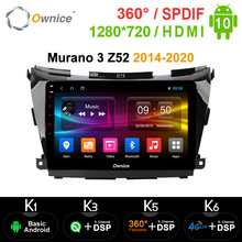 Ownice 8 core Android 10.0 Lettore DVD GPS Navi Radio k3 k5 k6 Per Nissan Murano 3 Z52 2014 - 2020 4G LET 360 Panorama DSP SPDIF