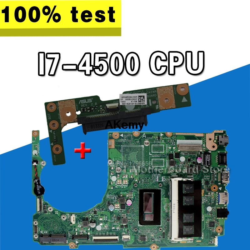 Send Board+S301L Q301LP S301LP S301LA Laptop Motherboard For Asus With I7-4500U GM DDR3 Mainboard Fully Tested 100% Good Work