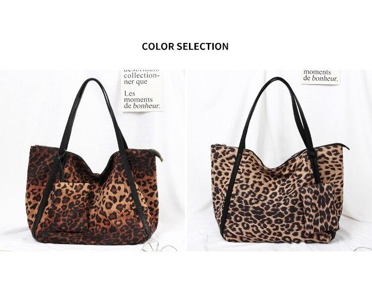 Mabula moda feminina leopardo bolsa de ombro