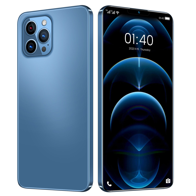2021 Global Version 7.2 Inch i12 Pro Max Smartphone 12GB 512GB Face ID Snapdragon 888 Aple Mobile Phone PUBG 4800mAH
