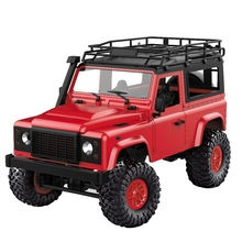 цена на Mn-90 1/12 2.4G 4Wd 15Km/H Rc Car With Front Led Light 2 Body Shell Rock Crawler Truck Rtr Toy Christmas Gift Kids Boys(Red)