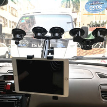 Heavy duty dual tablet suction cup mount with 1 inch ball head for ram mounts for ipad