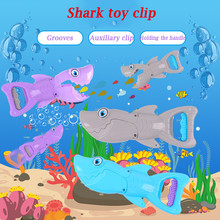 Shark Grabber Water Bath Toys For Boys and Girls Blue with Teeth Kids Toddler