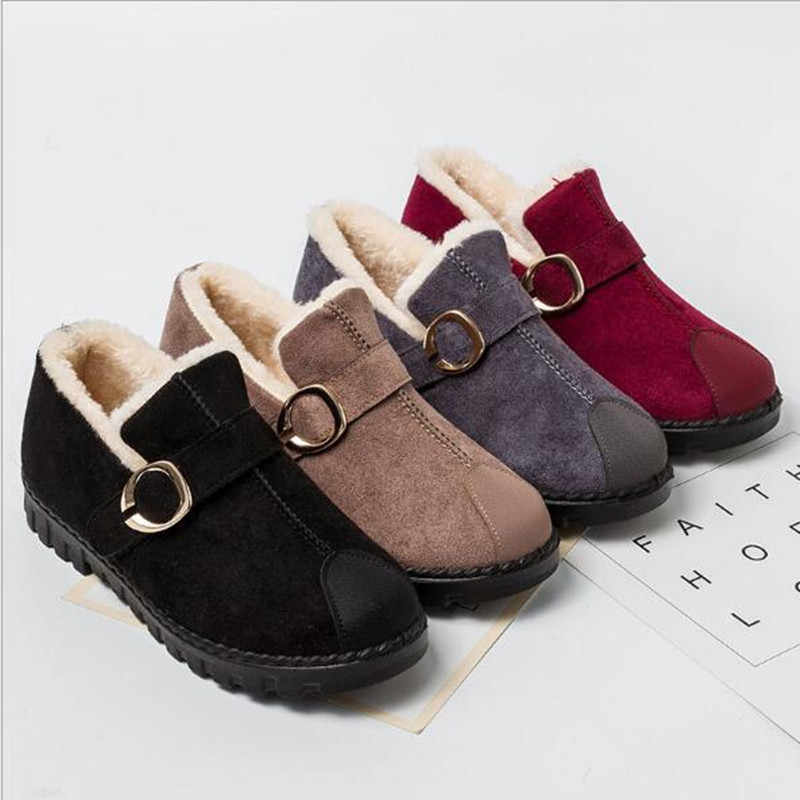 Autumn and Winter New Cotton Shoes flat non-slip Warm Mother Shoes Korean Fashion Women's Shoes Winter Women's Boots