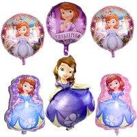 50pcs/lot 100cm Sofia Princess Brand Helium Foil Balloon Kids Birthday Party Helium Inflatable Party Decoration Balloon Toys