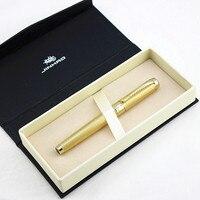 Jinhao قلم حبر عالي الجودة تموج جميل مع مشبك ذهبي فاخر ، نوبل الفضة معدن نحت أقلام الحبر هدية صندوق