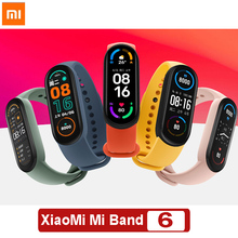 Original XiaoMi Mi Band 6 Smart Bracelet Sport Wristband Heart Rate Blood Oxygen Fitness Tracker Bluetooth Waterproof Smart Band