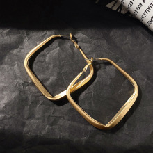 Punk Gold Color Metal Drop Dangle Earrings for Women 2020 Fashion Big Geometric Square Big Statement Earrings Party Jewelry amorcome chic hollow alloy leaves dangle earrings for women gold metal leaves geometric long big drop earrings fashion jewelry