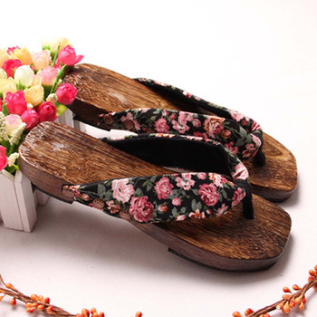 Women Shoes Summer Sandals Platform Shoes Wood Women Sandals Clog Wooden Slippers Flip Flops Casual Beach Shoes For Ladies# G image
