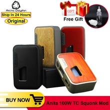 원래 북극 돌고래 Anita 100W TC VW APV Squonk 상자 Mod Squonker 전자 담배 5 100W OLED 백색 스크린 TC E Cig vape