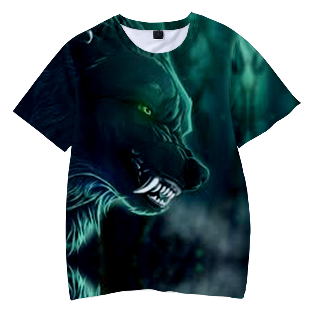 Lovely Tiger Youth Kids T Shirt 3D Printed Short Sleeve Crew Neck Tees Shirts for Boys Children