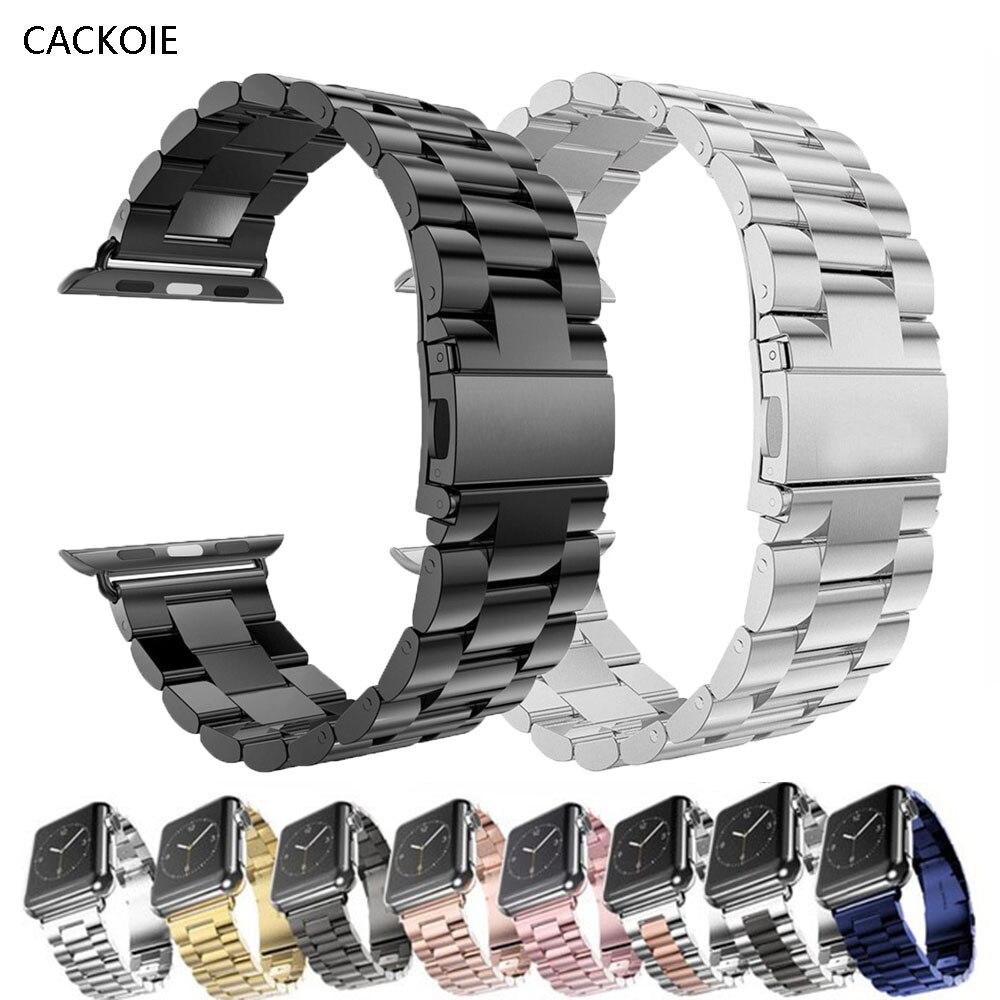 Ремешок из нержавеющей стали для Apple watch band 40 мм 44 мм 5 4 3, спортивный металлический браслет для часов iWatch 3 2 1|Ремешки для часов| | АлиЭкспресс