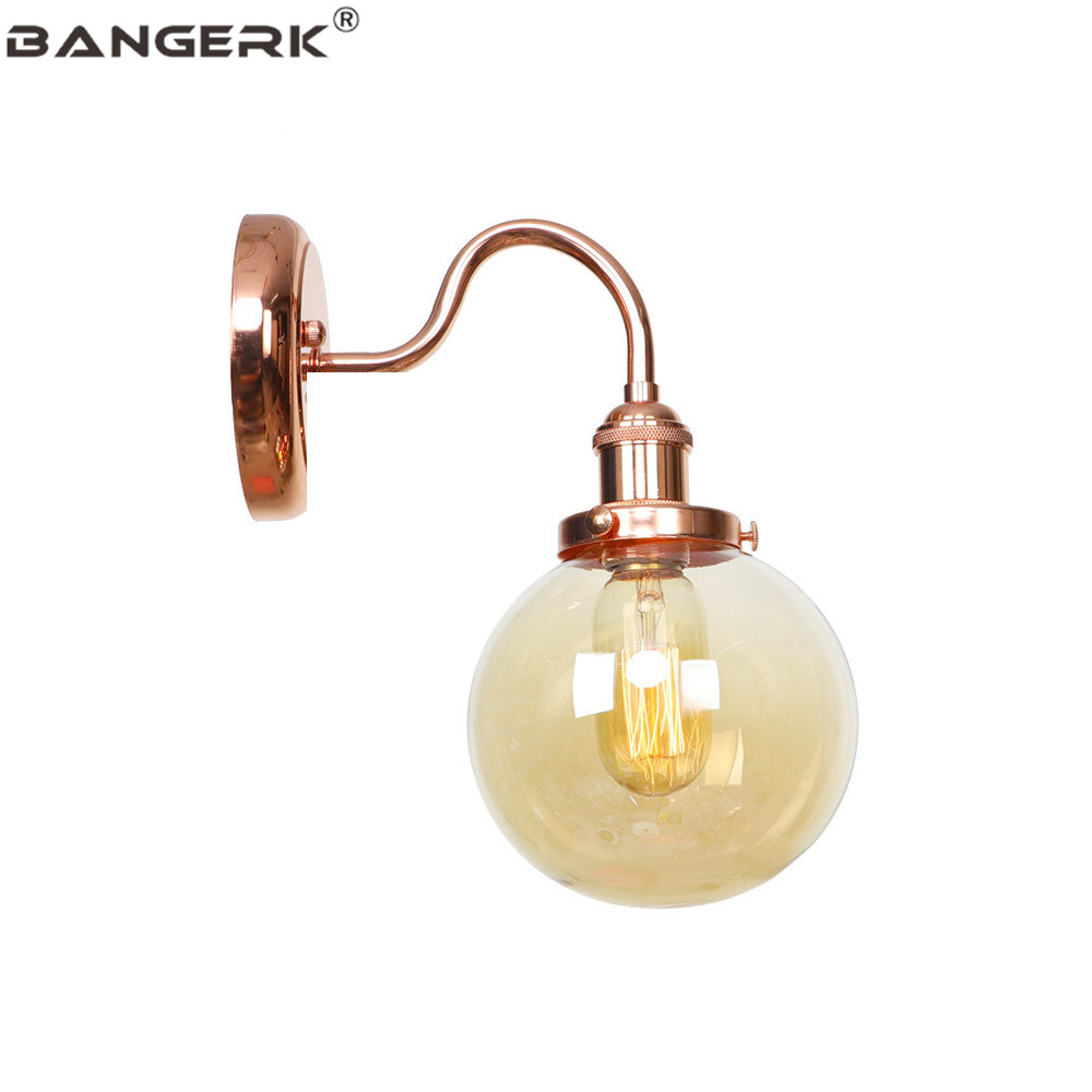 Industrial Wind Edison Sconce Wall Lights Loft Decor Modern LED Wall Light Iron Glass Bedside Wall Lamp Home Lighting Fixtures|LED Indoor Wall Lamps| |  - title=