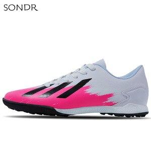 Новые мужские уличные футбольные бутсы для взрослых, высокие футбольные бутсы TF/FG, спортивные кроссовки X19