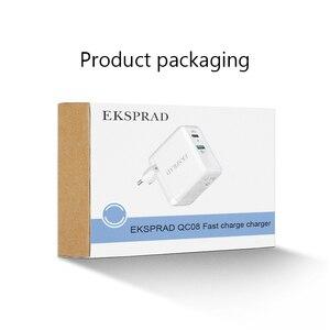 Image 5 - USB C Wand Ladegerät, EKSPRAD 36W 2 Port Typ C Ladegerät mit 18W Power Lieferung mit Faltbare Stecker Für iPhone 11 Pro schnelle Ladung