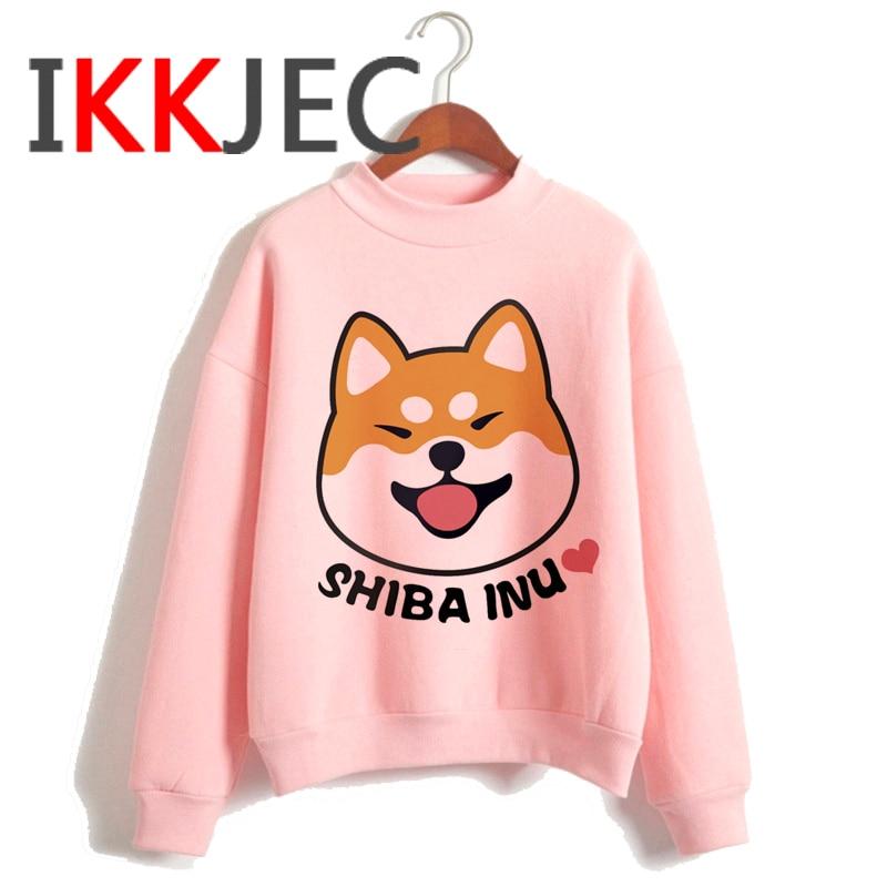 Shiba Inu Kawaii Dogs Funny Cartoon Grunge Aesthetic Hoodies Women Ladies Harajuku Cute Anime Sweatshirt Streetwear Hodoy Female 7