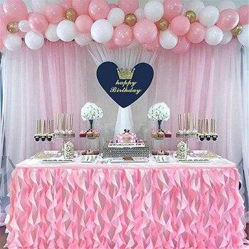 Saia De Mesa Tule Saia De Mesa Para Decoração De Casamento Chá De Bebê Festa De Aniversário Banquete Mesa De Casamento Rodapé 180x77cm