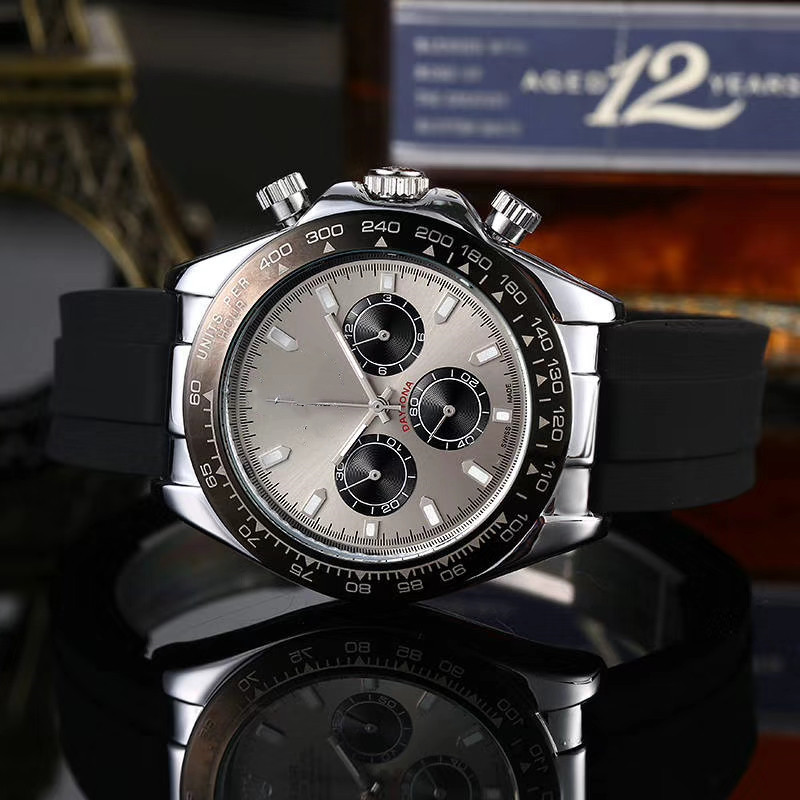 2020 RLX New Mens Watches Top Brand Luxury Dial Clock Male Fashion Silicone Waterproof Quartz Gold Watch Men Sport Chronograph
