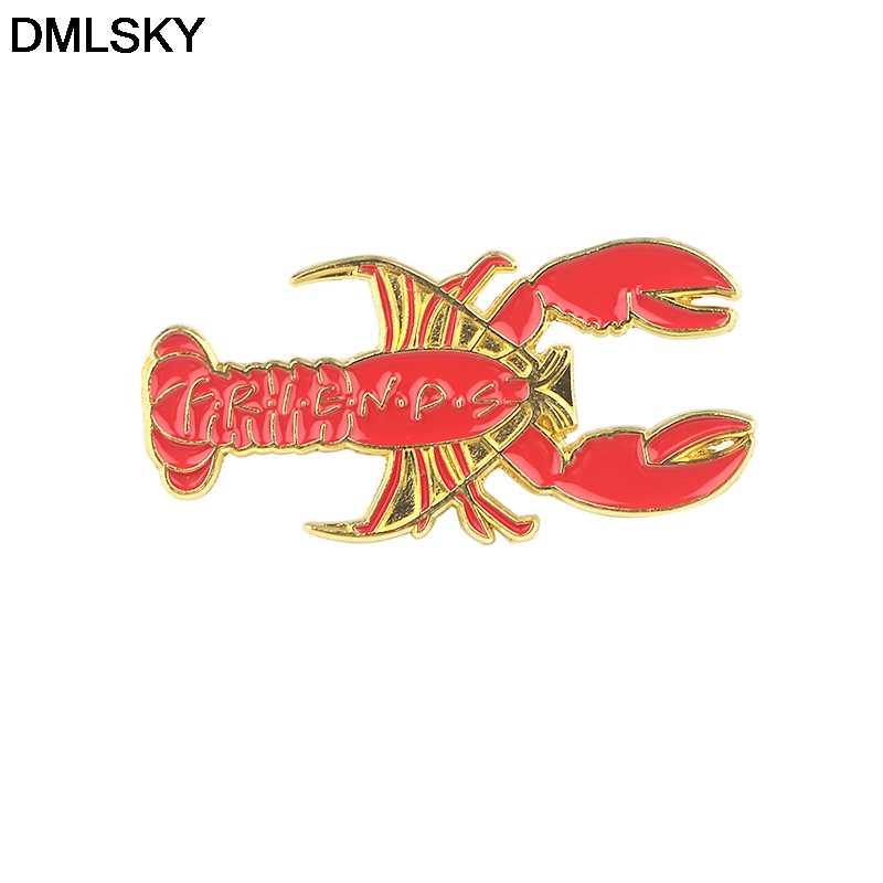 DMLSKY komik emaye pin karikatür karakter moda Metal pimler Icon sırt çantası üzerinde Pin rozetleri giyim M4272