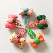 1 Pcs/lot New Cute Bowknot Hair Clips Dot Kids Candy Color BB Hairpins Girls Accessories