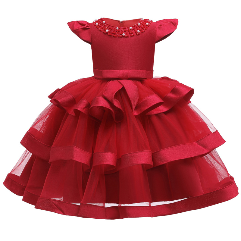 Girls Dress Elegant New Year Princess Children Party Dress Wedding Gown Kids Dresses for Girls Birthday Party Dress Vestido Wear 4