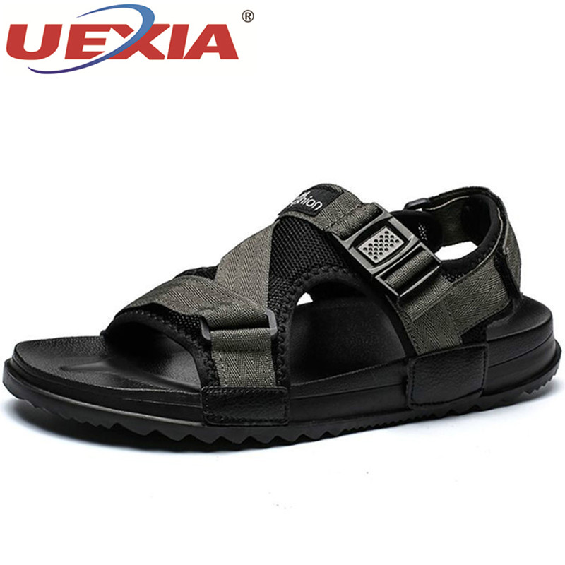 UEXIA Unisex Sandals Men Summer Beach Gladiator Fashion Mens Outdoor Sandals Shoes Flip Flops Slippers Flats Large Size 36-46
